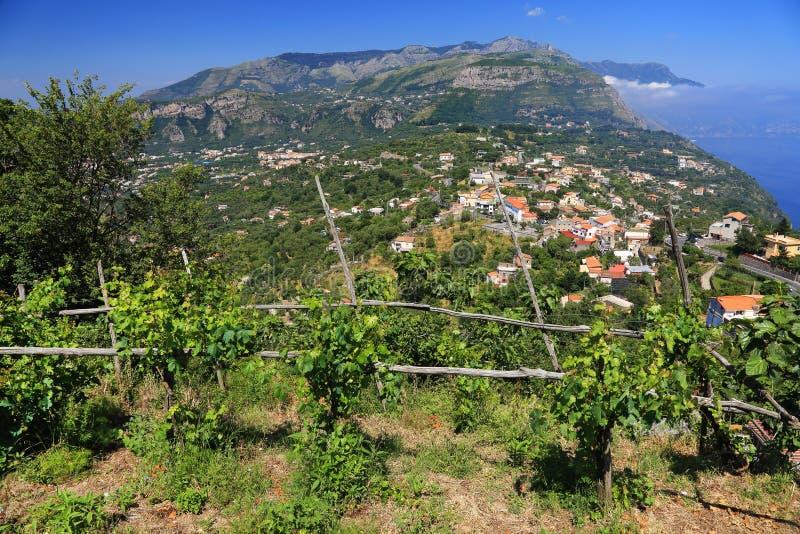 Amalfi Coast, Italy, Europe. Amalfi Coast - luxurious touristic destinationin Europe stock images