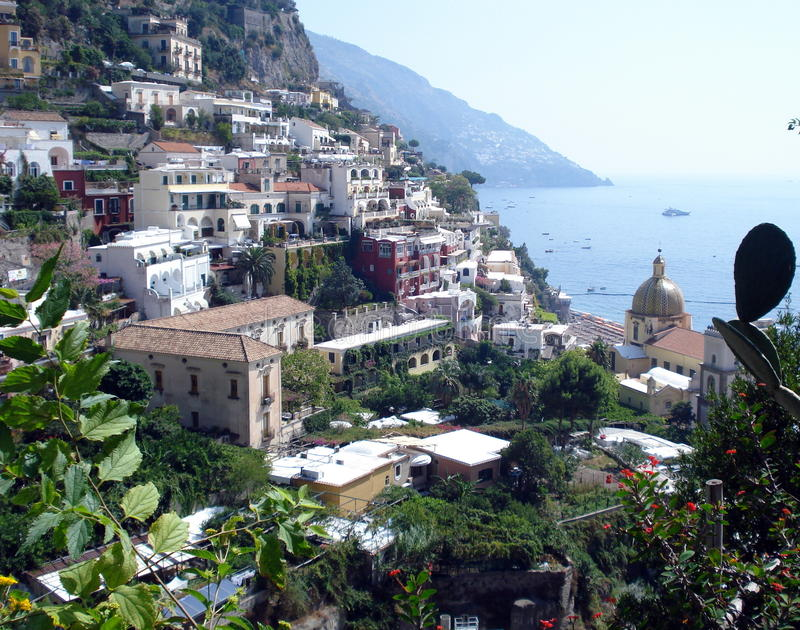 Amalfi Coast, Italy. Stretching along the southern side of Italy's Sorrentine Peninsula, the Amalfi coast dazzles with its mysterious grottos, craggy cliffs and royalty free stock images
