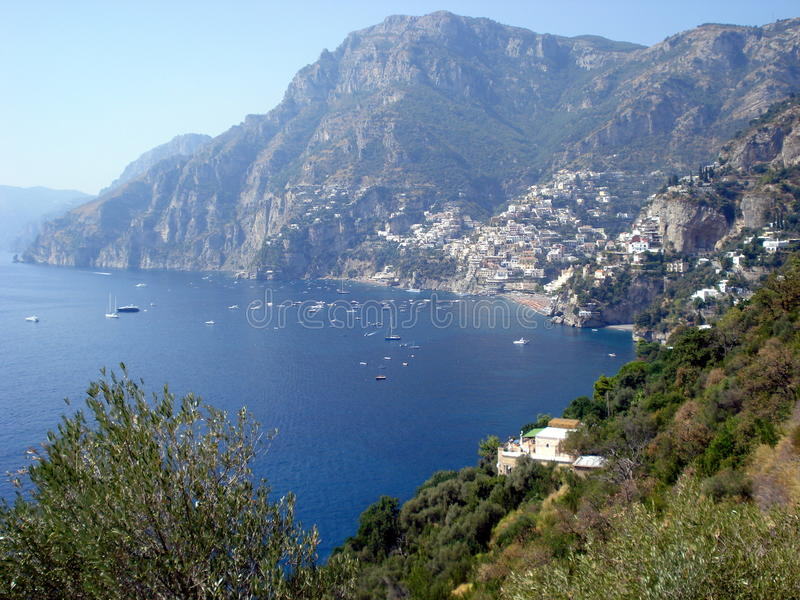 Amalfi Coast, Italy. Stretching along the southern side of Italy's Sorrentine Peninsula, the Amalfi coast dazzles with its mysterious grottos, craggy cliffs and royalty free stock image