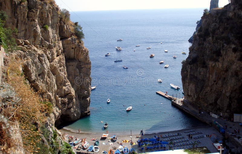 Amalfi Coast, Italy. Stretching along the southern side of Italy's Sorrentine Peninsula, the Amalfi coast dazzles with its mysterious grottos, craggy cliffs and stock photos