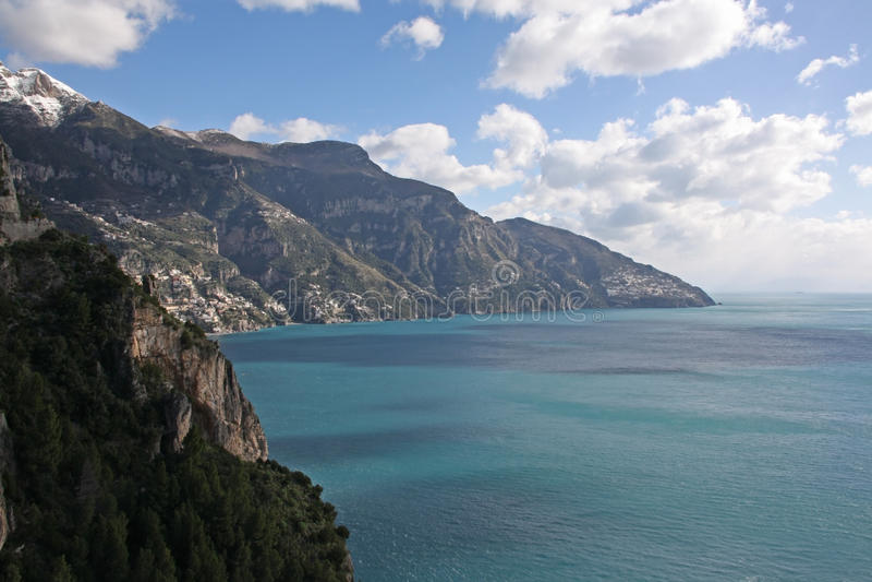 Amalfi costero, Italia fotografía de archivo libre de regalías