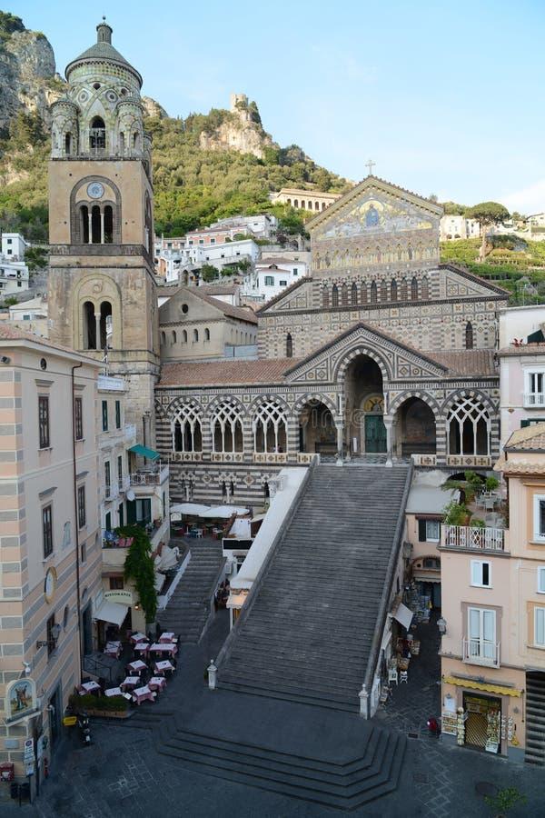 Amalfi domkyrka - Italien royaltyfri fotografi