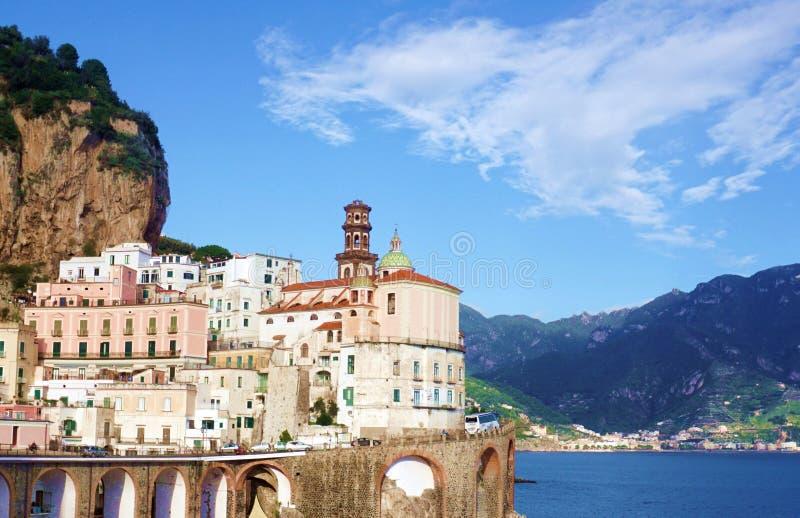 Amalfi hermoso fotografía de archivo libre de regalías