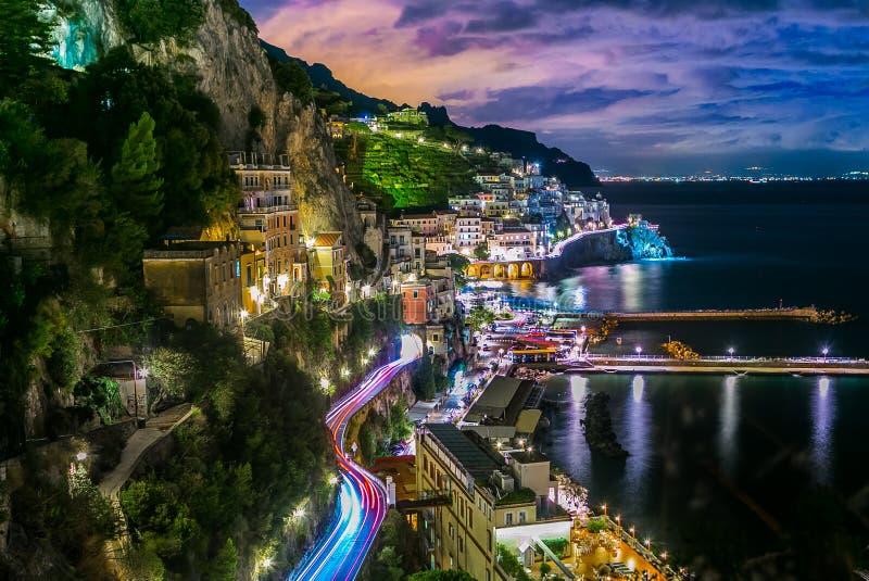 Amalfi Italië kust stock foto's