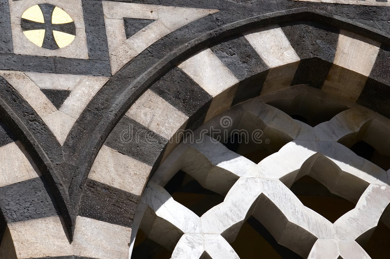 Amalfi, Italia, catedral de St.Andrew imágenes de archivo libres de regalías