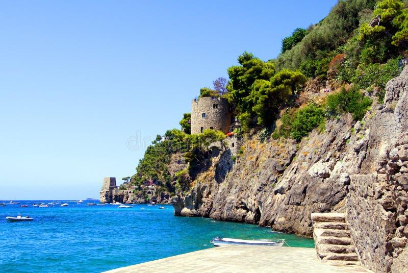 Amalfi kust stock afbeelding