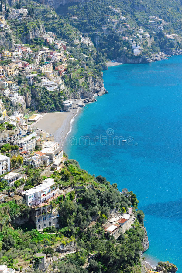 Amalfi kust arkivfoto