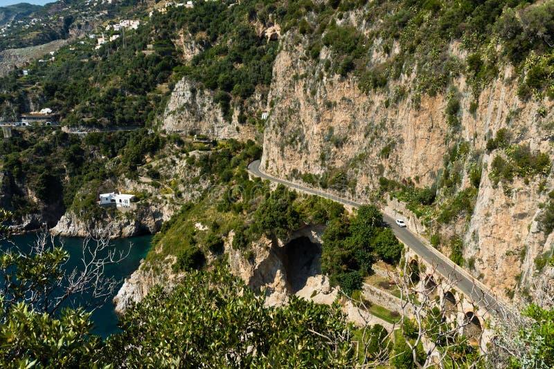Amalfi-kust Italien royaltyfri fotografi