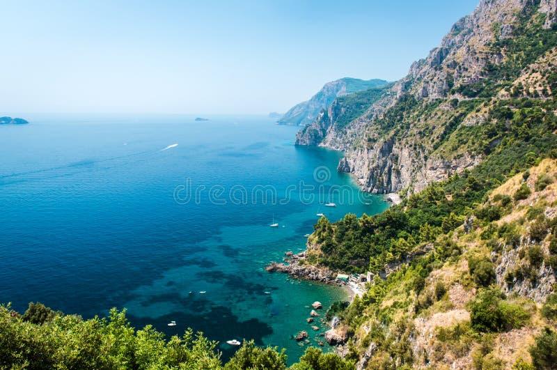 Amalfi kust. Italien arkivbild