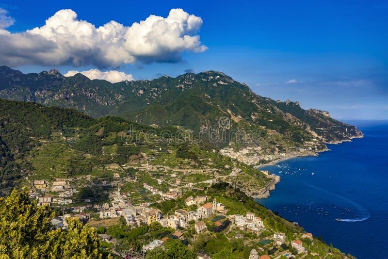 amalfi kust italy royaltyfria bilder