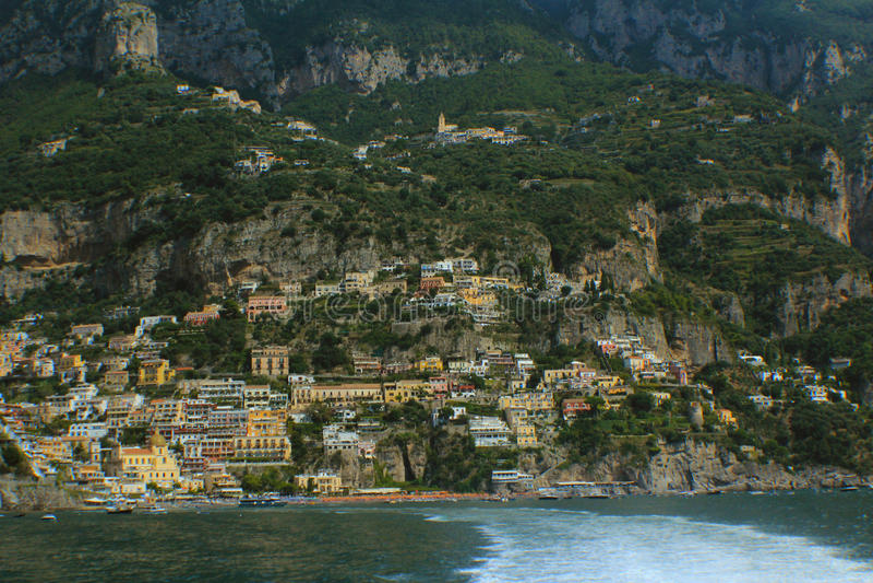 Amalfi kustpanorama stock fotografie