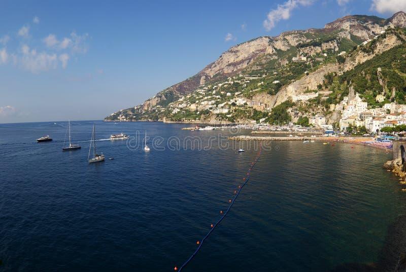 amalfi panoramiczny morza zdjęcia stock