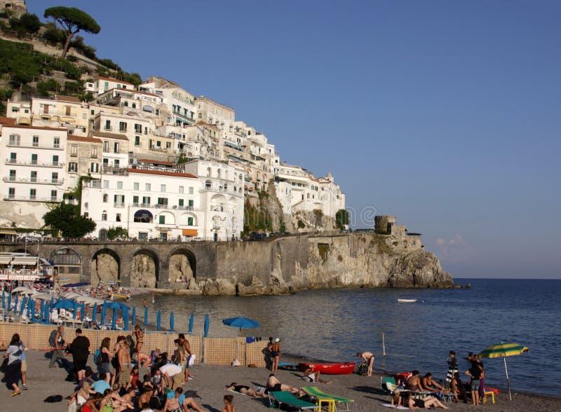 Amalfi Strand stock fotografie