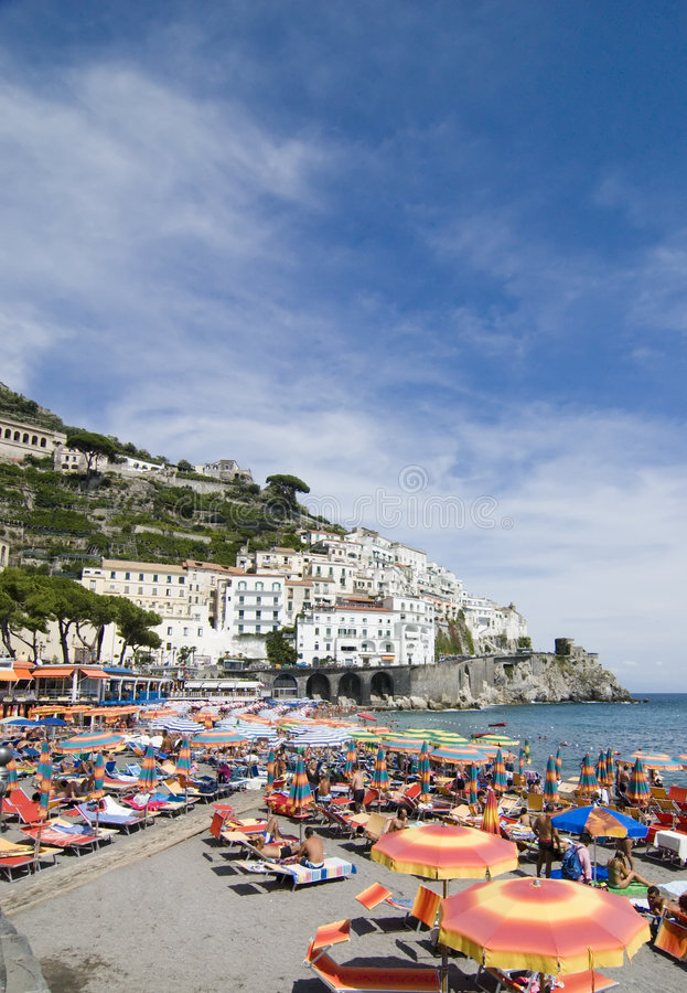 amalfi strand sydliga italy royaltyfria foton