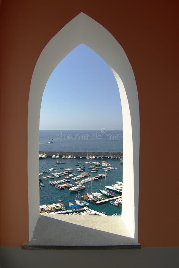 Amalfi window on the port