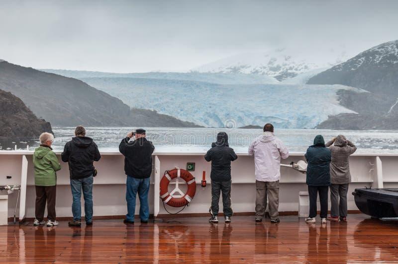 Amalia Glacier, Cile immagini stock