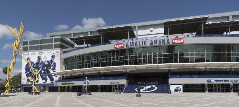Amalie Arena em Tampa Fl EUA foto de stock royalty free