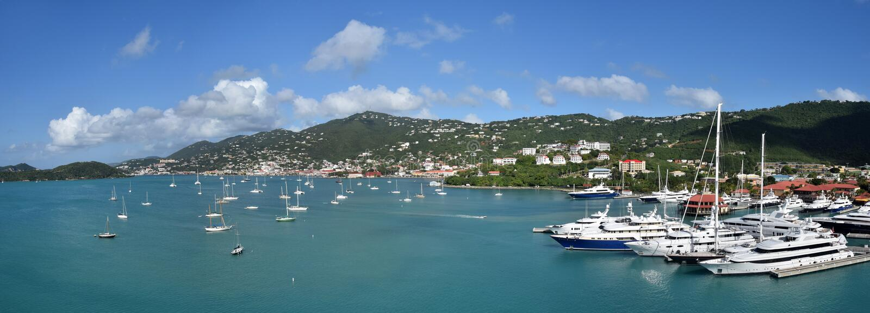Amalie de Charlotte, nós Virgin Islands fotografia de stock royalty free