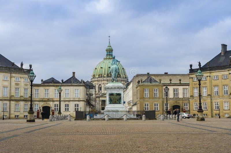 Amalienborg in Copenhagen stock image
