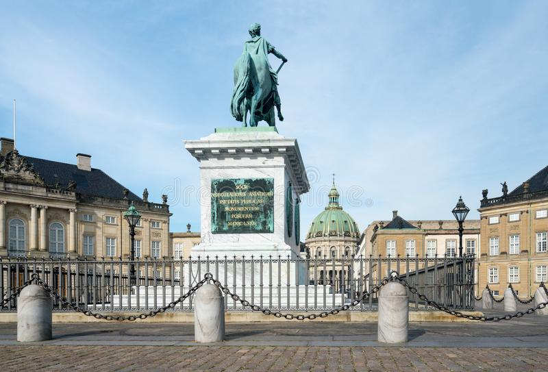 Amalienborg pałac w Kopenhaga Dani obrazy royalty free