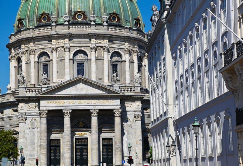 Amalienborg-Palast, Kopenhagen Dänemark lizenzfreie stockfotografie