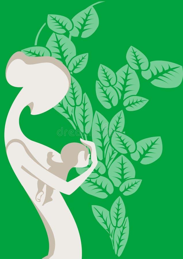 Download Amamentação e infante ilustração do vetor. Ilustração de sumário - 12805067