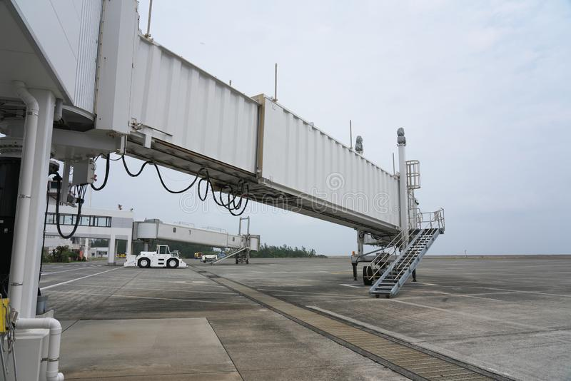 Tarmac and Runway at Amami airport in Amami Oshima, Kagoshima, Japan stock photos