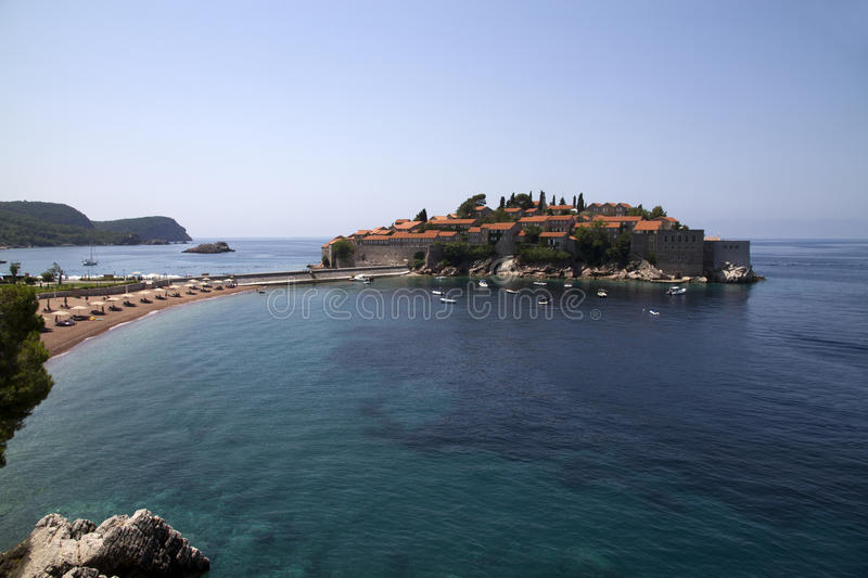 Aman Sveti Stefan royalty free stock photo