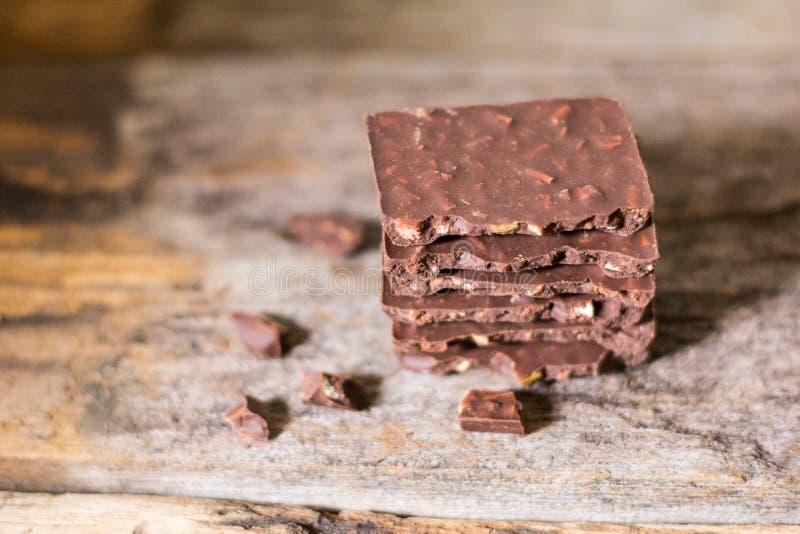 Amande de chocolat de choc photos stock