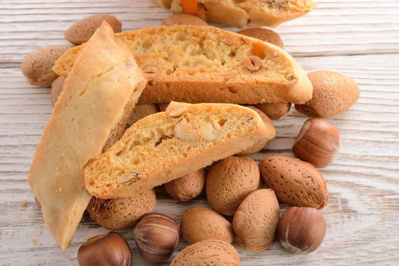 Amandes Biscotti de noix photos libres de droits
