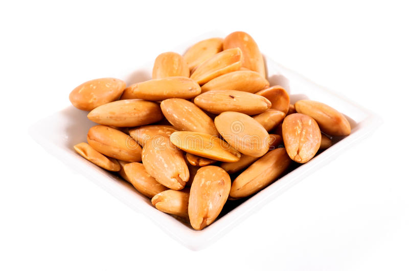 Amandes blanchies photo stock