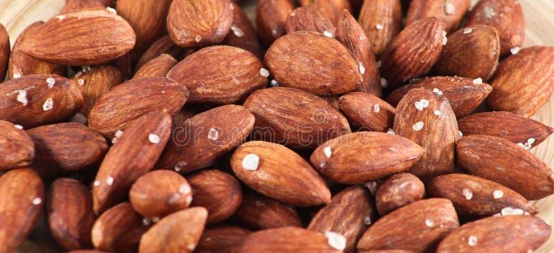 Amandes rôties salées Nuts photographie stock libre de droits