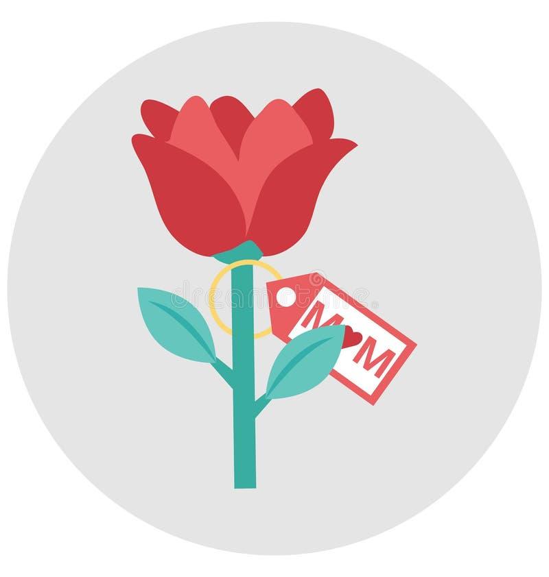Amando la flor, subió eso puede ser corregido fácilmente en cualquier tamaño o ser modificado ilustración del vector