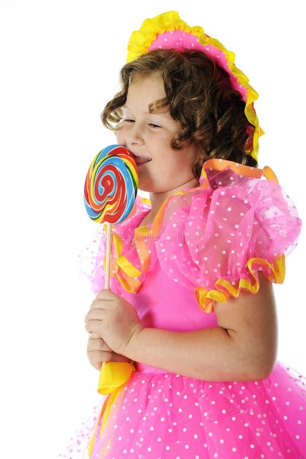 Amando meu Lollipop fotografia de stock