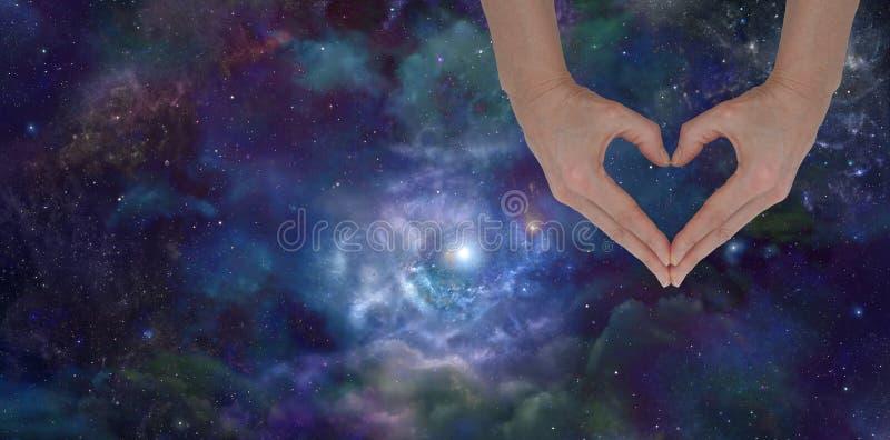 Amando o universo ilustração stock