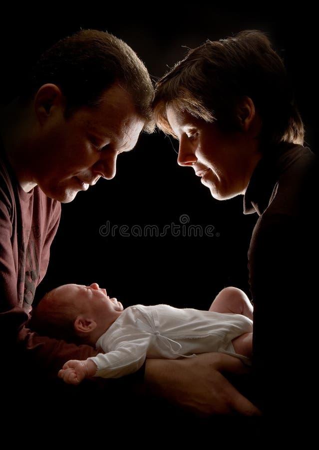 Amando seu bebê foto de stock royalty free