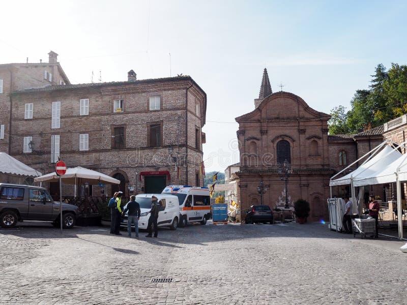 Amandola średniowieczny miasteczko w Włochy obrazy stock