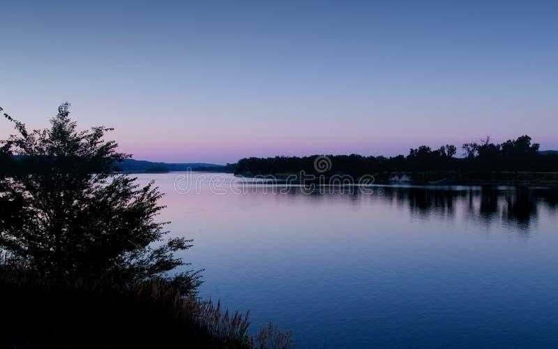 Amanecer azul de Missouri imagen de archivo