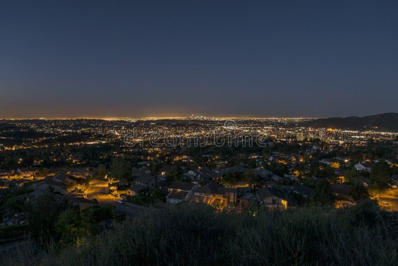 Amanecer de Glendale California imagen de archivo libre de regalías