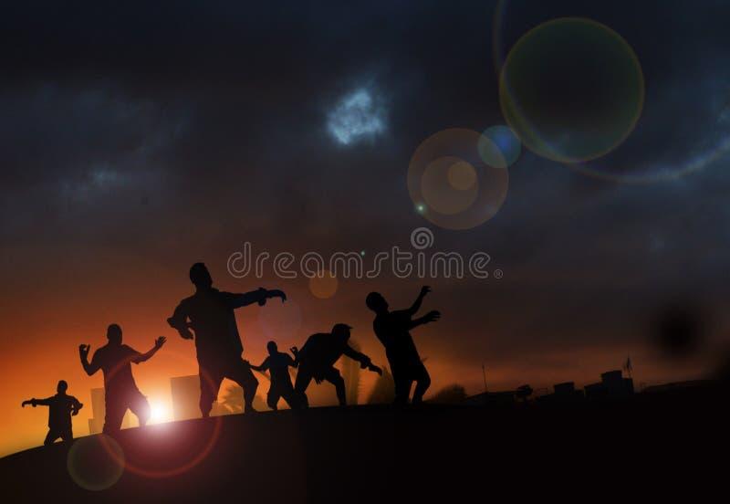 Amanecer del zombi ilustración del vector
