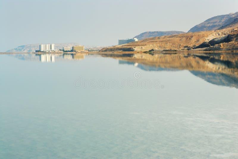 Amanecer en el mar muerto fotos de archivo libres de regalías