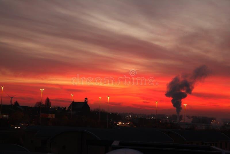 Amanecer en Leeds foto de archivo libre de regalías