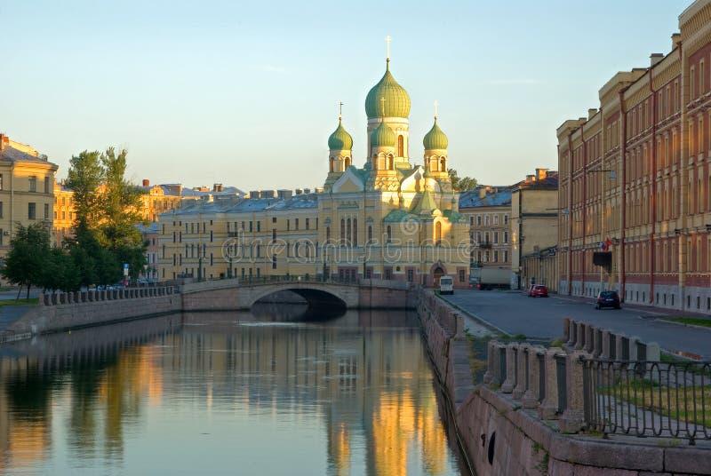 Amanecer en St Petersburg imagen de archivo libre de regalías