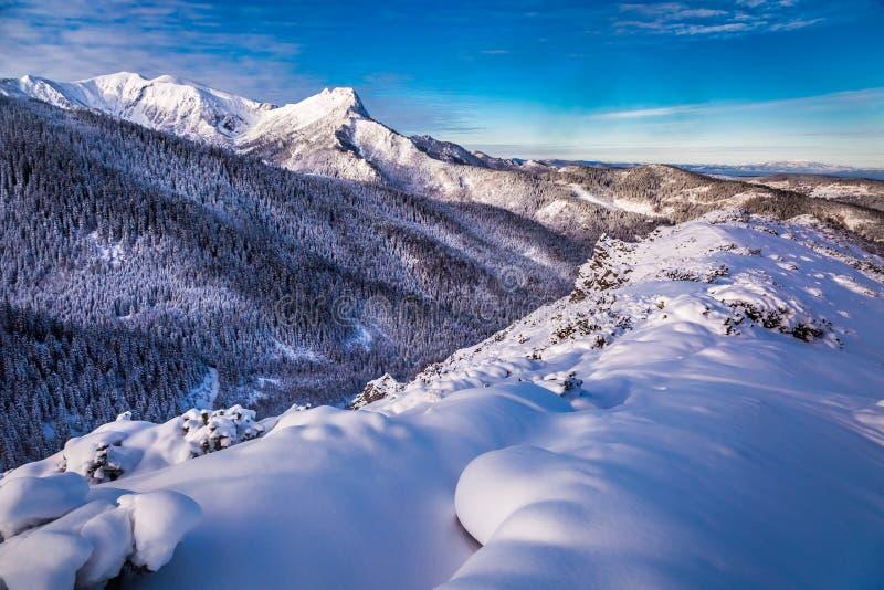 Amanecer frío en las montañas de Tatra fotografía de archivo libre de regalías