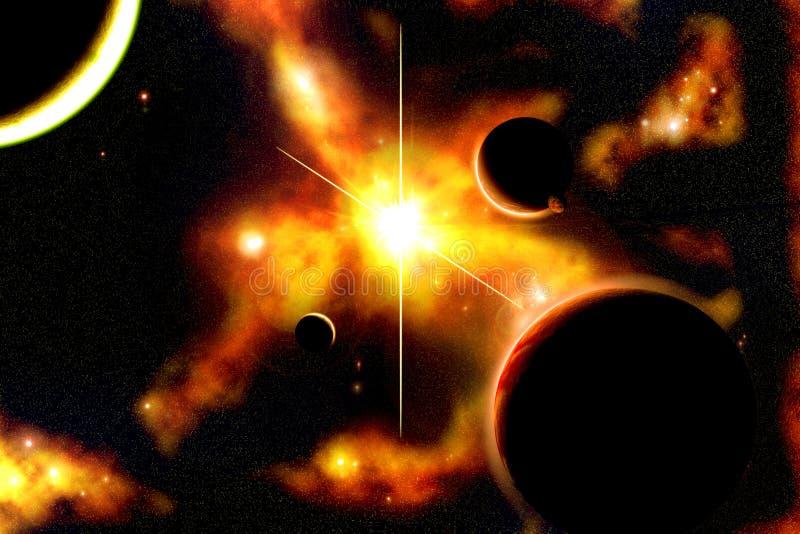 Amanecer solar ilustración del vector