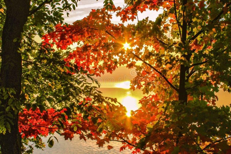 amaneceres del otoño fotografía de archivo