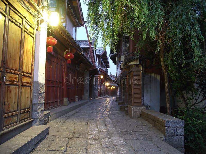 Amanhecer 5 am de Lijiang fotografia de stock royalty free