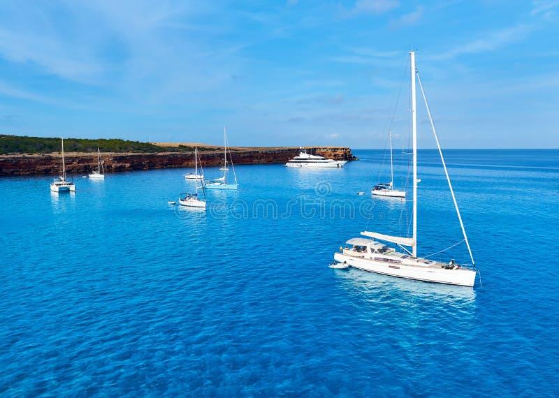 Amanhecer dentro em Formentera foto de stock royalty free