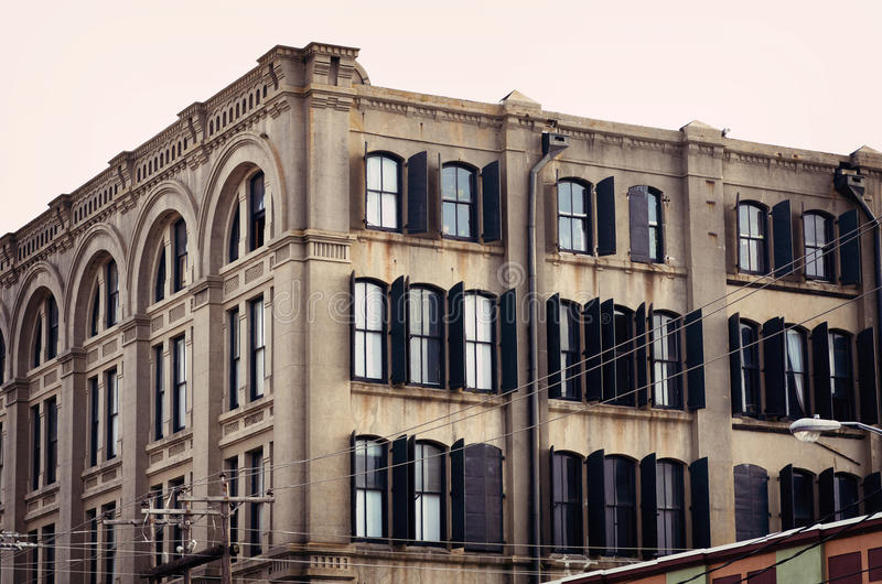 Amanhecer em Galveston do centro, Texas foto de stock royalty free