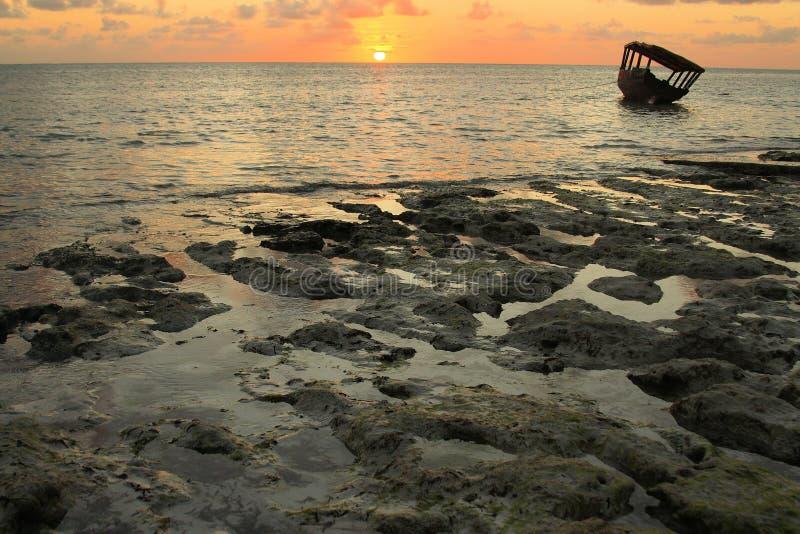 Amanhecer em Zanzibar fotografia de stock royalty free